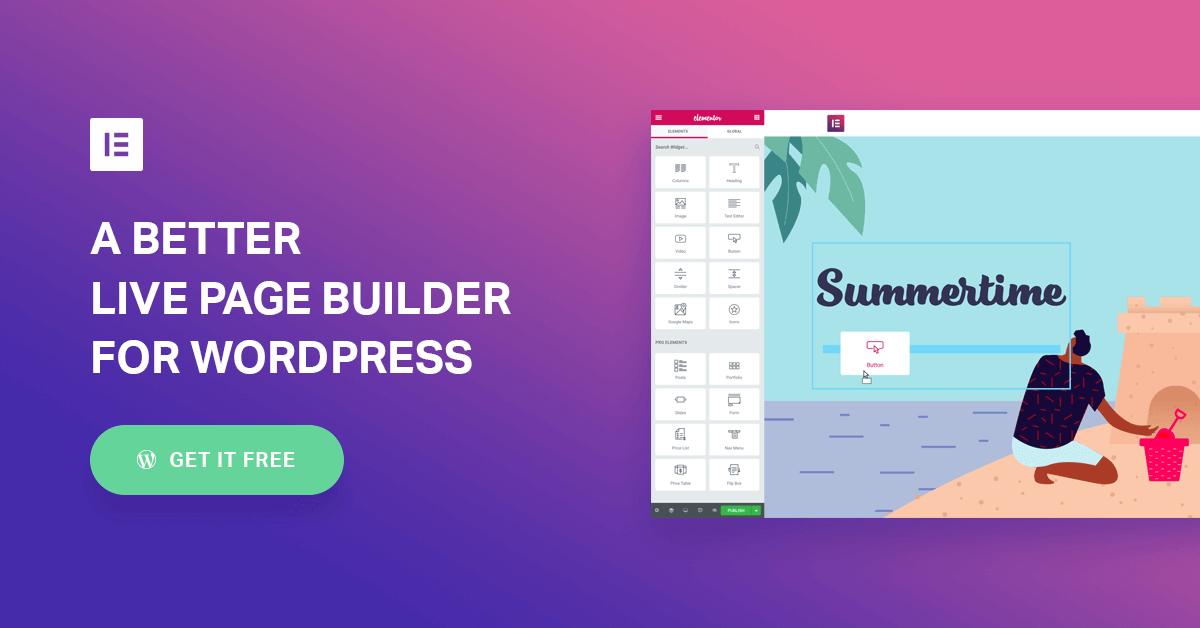Elementor Best WordPress Theme Builder Plugin